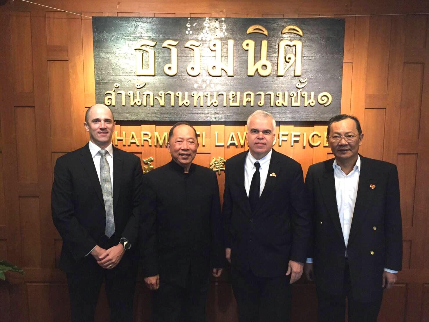 อัครราชทูตที่ปรึกษา สถานเอกอัครราชทูตสหรัฐอเมริกาประจำประเทศไทย ให้เกียรติเยี่ยมชมสำนักกฎหมายธรรมนิติ